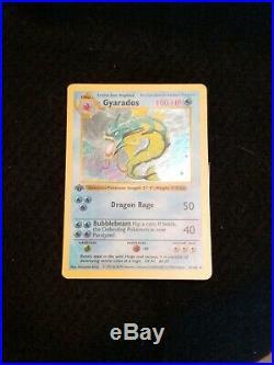 Pokemon 1st Edition Shadowless Gyarados Holofoil Card, WTC
