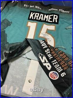 RARE 9-11 WTC Bakersfield Condors Game Worn ECHL Hockey Auto MIKE Kramer Jersey