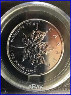 Rare 1oz Platinum Maple Leaf PCGS Uncirculated 911 WTC Ground Zero Recovery Coin