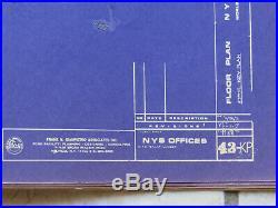 Rare'71 World Trade Center Original Copies of Blue Print of 43rd Floor