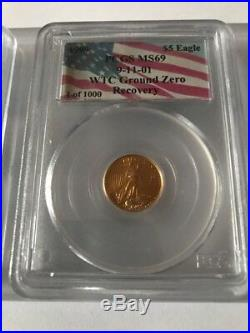 Rare Complete Set PCGS 1 Of 1000 WTC 9/11 TWIN TOWERS GROUND ZERO RECOVERY