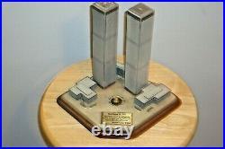 Rare Danbury Mint Twin Towers Commemorative World Trade Center 911 Memorial NYC