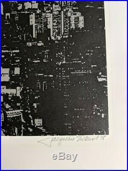 Rare Jacqueline Tuteur Serigraph World Trade Center Window Washer 12/200 1978