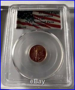 Rare PCGS 1 Of 1440 Complete Set WTC 9/11/01 SILVER EAGLE GROUND ZERO RECOVERY