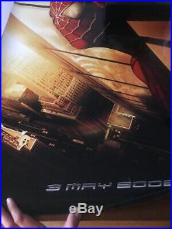 Rare, Re-called Spiderman One Sheet Movie Poster with WTC Twin Towers on poster