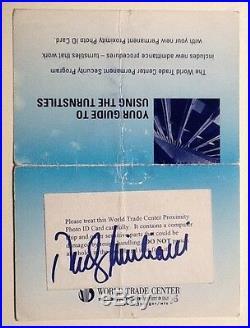 Rudy Giuliani Signed Autograph World Trade Center ID Folder/turnstile Guide COA