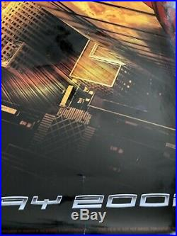 SPIDER-MAN Recalled TEASER MOVIE Poster DS 9/11 WTC May 3 2002 Slightly dam