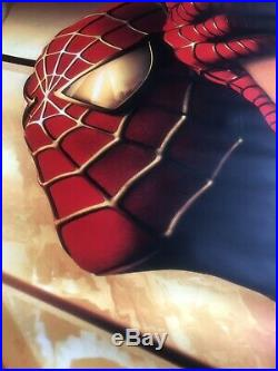 SPIDER-MAN TEASER MOVIE BANNER 9/11 WTC Recalled May 3 2002 4 FT by 8 FT