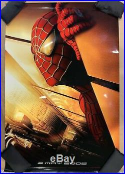 SPIDER-MAN orig DS movie poster'01 RECALLED WTC Twin Towers AUTHENTIC Spiderman