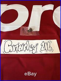 SUPREME World Trade Center Pin 911 Cdg Tnf Box Logo Rare Ds Ny La Japan KITH