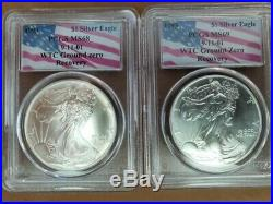 Set of all 12 dates and grades of PCGS WTC Ground Zero Silver Eagles