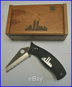 Spyderco World Trade Center DAllara, #1373 of 2819 WTC Steel Inlay, Rare, New