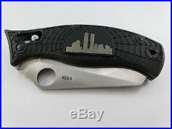 Spyderco World Trade Center Knife with Wood Box