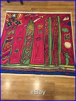 Stephen sprouse vintage Fabric Sample 1985 Rare NYC Studio World Trade Center
