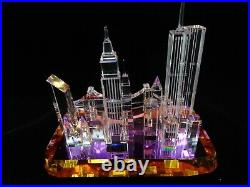 The Crystal World A View Of New York City Skyline Twin Towers World Trade Center