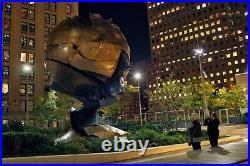 The World Trade Center Sphere Metal Souvenir Building