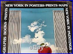 Tom Naegele 1977 New York City Exhibition Poster Big Apple World Trade Center