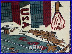 U. S. A 11 september 2001 Newyork world trade center afghan carpet rug warrug 18/3