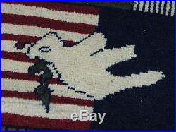U. S. A 11 september 2001 Newyork world trade center afghan carpet rug warrug 18/6