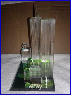 VINTAGE WORLD TRADE CENTER TWIN TOWERS CRYSTAL Purchased in 1970's RARE FIND