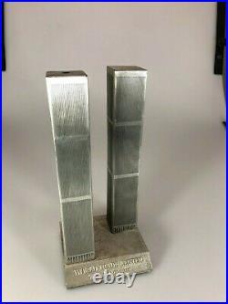 Very Rare Metal World Trade Center Souvenir Building by Microcosms