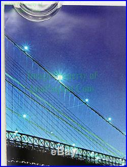 Vintage John McEnroe NIKE Poster with Brooklyn Bridge WTC Twin Towers NITF