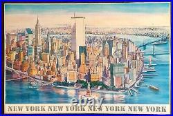 Vintage Letizia Pitigliani Art Print New York City World Trade Center Poster