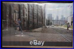 Vintage NIKE Baseball Poster STICKBALL Dale Murphy Dwight Gooden WTC Brooklyn