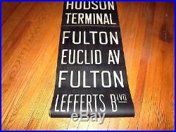 Vintage Nyc Subway Sign Houston Hudson Terminal Wtc Fulton Brooklyn Ny Roll Sign