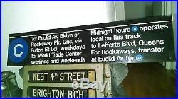 Vintage Nyc Subway Sign World Trade Center Station Fulton Rockaway Lefferts Ny