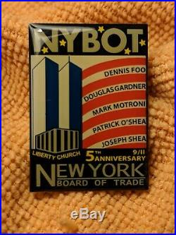 Vintage Welcome Back To the World Trade Center Mug + NYBOT WTC Jacket Patch NM