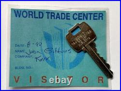 Vintage World Trade Center/ Twin Towers Key + Visitor Pass Pre-911 New York NYC