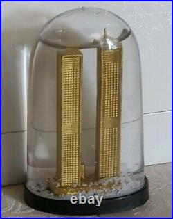 Vintage World Trade Center Twin Towers New York City Snow Globe Dome