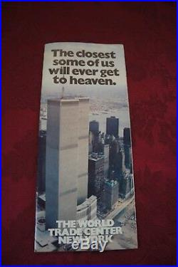 Vtg. The World Trade Center Brochure Great Condition