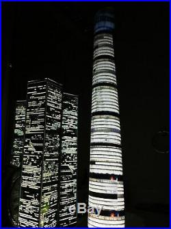 WORLD TRADE CENTER TWIN TOWERS MODEL 9/11 lighted lamp translight prints
