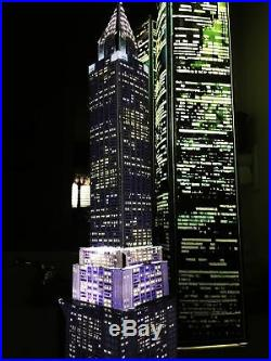 WORLD TRADE CENTER TWIN TOWERS MODEL 9/11 lighted lamp translight prints New