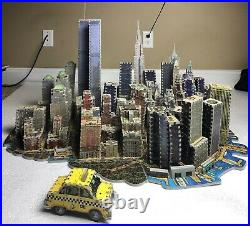 WREBBIT PUZZ 3D New York, New York with WTC Twin Towers 3141 pieces, Complete