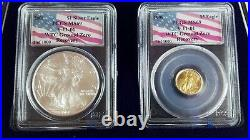 WTC Recovery Coin Set 1 of 1000 2001 Silver Eagle/1999 $5 Gold Eagle MS69 RARE