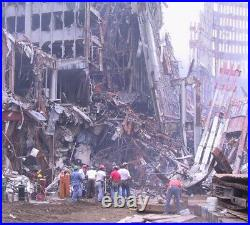 WTC World Trade Center 9/11 artifact, explosion, debris, building structure