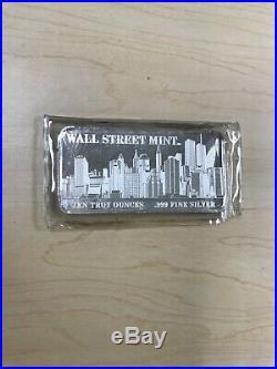 Wall Street Mint 10 oz. 999 Fine Silver Bar World Trade Center Towers