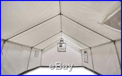 Wilderness Base Camp Hiking Canvas Wall Tent Stove Jack Opening 2 Side Windows