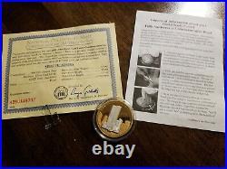 World Trade Center 5th Anniversary Gold & Silver Commemorative Giant Medal 5.5oz
