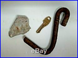 World Trade Center 9/11 Recovered Concrete Tower 1, hook from roof, key for lock