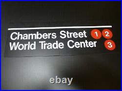 World Trade Center Chambers Street MTA promotional replica metal sign pre-9/11