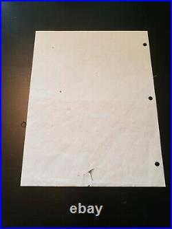 World Trade Center Document Artifact From 9/11 Attack Declaration of a Disaster