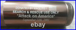 World Trade Center MAG-LITE. Official SEARCH AND RESCUE USE ONLY Open box