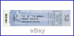 World Trade Center Original 2001 Observatory Ticket