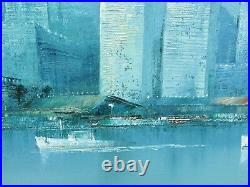 World Trade Center Painting Mid Century Modern New York City Skyline