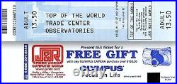 World Trade Center Pre 9/11 2001 Observatory Ticket Adult WTC Liberty Postcard