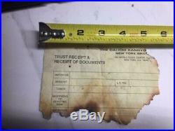 World Trade Center Recovered Paper Receipt 9/11 Ground Zero